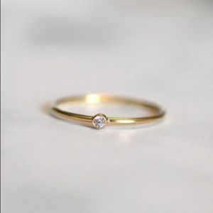 Thin Gold Filled Stacking Ring